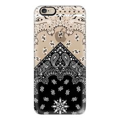 iPhone 6 Plus/6/5/5s/5c Case - Black bandana ($40) ❤ liked on Polyvore featuring accessories, tech accessories, iphone case, black handkerchief, black bandana, apple iphone cases and iphone cover case