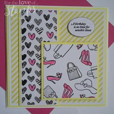 For The Love of Stamps Shop Til You Drop stamp set Tonic Cards, Hunkydory Crafts, Hunky Dory, Card Making Inspiration, Die Cutting, Girl Stuff, Cardmaking, Stamping, Card Ideas