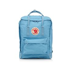 Fjällräven Kanken backpack ($62) ❤ liked on Polyvore featuring bags, backpacks, blue bag, fjallraven backpack, logo bags, fjallraven rucksack and shoulder strap bags