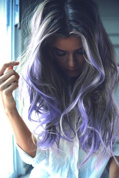 Purple ombre hair <3  #hairdo #ombre #color #dye #hairstyle #modern #fashion #purple