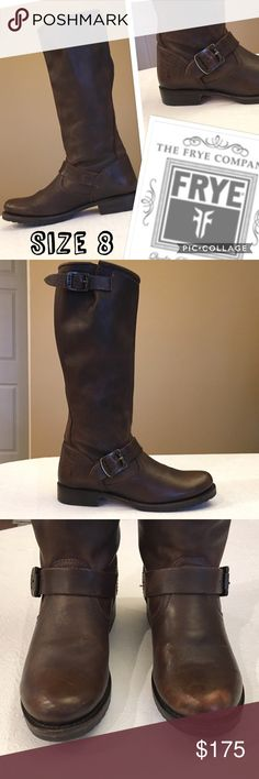 Frye Veronica Slouch Boots in Dark Brown Size 8 These boots were given to my friend by her ex and she doesn't want to see them again! She had only worn them for 2 dates and they are super cute! Frye Shoes