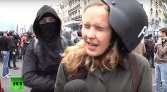 VISÃO NEWS GOSPEL: Repórter é estapeada durante cobertura ao vivo de protestos em Paris