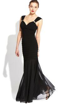R RICHARDS Shutter-Pleat Mermaid Gown $89.99