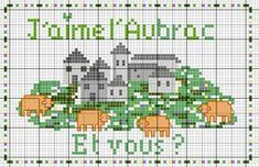 France - country - l'aubrac - point de croix - cross stitch - Blog : http://broderiemimie44.canalblog.com/
