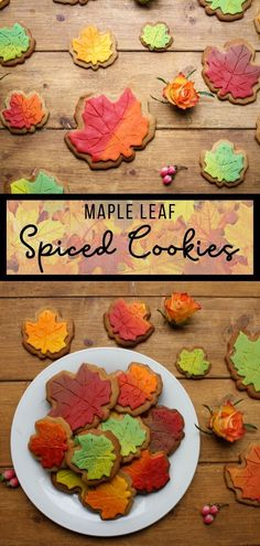 Maple Leaf Spiced Cookies in Autumn Colours - Someone's Mum These are similar to but use our unique mix. Perfect for a rainy or day. Care Skin Condition and Treatment Oil Makeup Delicious Cookie Recipes, Best Cookie Recipes, Dessert Recipes, Sweet Desserts, Candy Recipes, Drink Recipes, Delicious Food, Tasty, Healthy Recipes