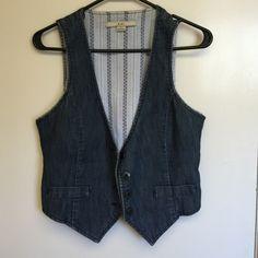 Selling this Denim vest in my Poshmark closet! My username is: beautybyashly. #shopmycloset #poshmark #fashion #shopping #style #forsale #Forever 21 #Jackets