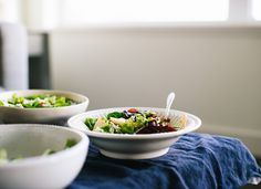 Fresh green salad with pears and walnuts - cookieandkate.com