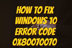 Error code 0x80070070 can be presented when there is not enough drive space on the computer to install updates. It is possible to uninstall apps that are no