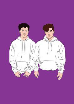 Dolan Twins. Ilustración por Sol Cano © www.heysolblog.com || Instagram: @solcano