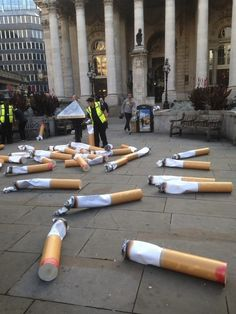 Gigantic Cigarette Butts Litter The Streets Of London