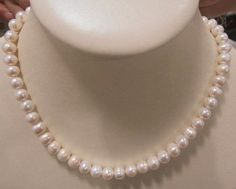 AAA Quality Freshwater Natural Pearl Necklace + Free Freshwater Natural Pearl Earrings