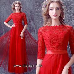 I-Linie Abendkleid Halbarm Andreja in Rot