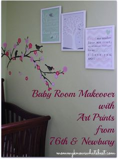 Baby Room Makeover with 76th & Newbury Art Prints Review