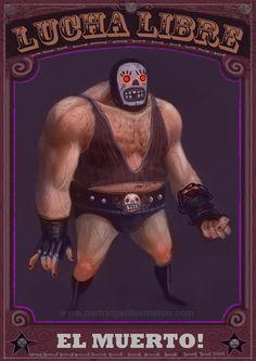 El Muerto Mexican Wrestler by RPartridge.deviantart.com