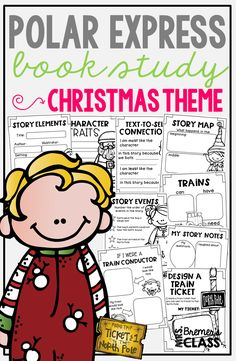 Polar Express book study companion activities perfect for Christmas in the classroom! Packed with fun literacy ideas and guided reading activities. Polar Express Characters, Polar Express Book, Polar Express Activities, 2nd Grade Activities, Guided Reading Activities, Book Activities, Kindergarten Social Studies, Preschool Books, Kindergarten Activities