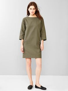 Quilted zip-pocket dress Product Image