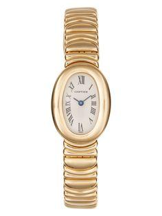 Cartier 18K Yellow Gold Baignoire Watch, 18mm