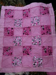 Minnie mouse rag quilt