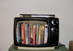 books in a tv