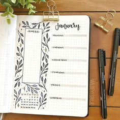 Andrea sur Instagram: Weekly spread for the last week of January ✨ Also, just noticed I forgot to fill in a couple of the leaves…