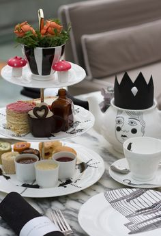 Mad Hatters afternoon tea Tablescape Centerpiece www.tablescapesbydesign.com https://www.facebook.com/pages/Tablescapes-By-Design/129811416695