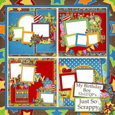 My Birthday Boy Quick Pages 12x12