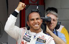 Happy Lewis. Amazing quali session.  Barcelona 2012