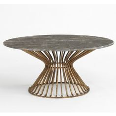 Baldwin Coffee Table - Brown Marble/Antique Gold ,$2850.00