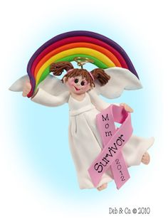 BREAST CANCER SURVIVOR  ANGEL ORNAMENT  (Personalized Free)    13.95 each       Personalized Free