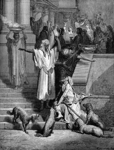Lazarus and the Rich Man by Gustav Dore