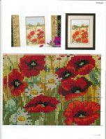 Lovely Poppy 7 of 7 Cross Stitch Rose, Cross Stitch Flowers, Cross Stitch Charts, Cross Stitch Designs, Cross Stitch Patterns, Cross Stitching, Cross Stitch Embroidery, Flower Chart, Cross Stitch Geometric