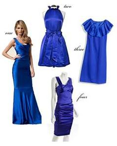 Think these are my colorS!!  Royal & Cobalt Blue Bridesmaids | Wedding Obsession - Canadian Blog