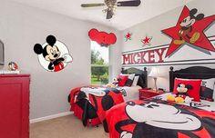 6 Dicas de Papel de Parede para Quarto Infantil #mickey #disney #papeldeparede #decoracao #quarto #casa #infantil