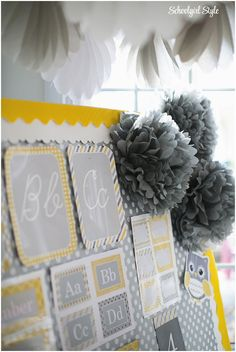 Yellow and gray colors for classroom?