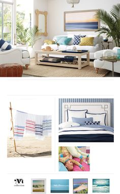 Costal Living Room | Serena and Lily