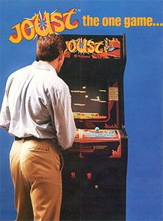 """Joust is a completely ridiculous game with knights riding ostriches. It made me laugh when it was referenced in """"Ready Player One""""..."""
