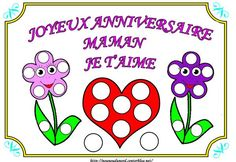 Heureux Anniversaire Maman Je t'aime Anniversaire Hello Kitty, Crafts For Kids, Character, Photos, Ponchos, Free Coloring, Crafts For Toddlers, Pictures, Kids Arts And Crafts