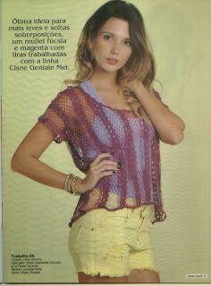 Mania de Tricotar: Blusas de crochê