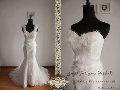 Hochzeitskleider - Abnehmbare Schultergurte Nixehochzeitskleid - ein Designerstück von ZitaaYoung bei DaWanda