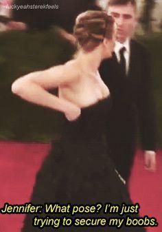 Cuando fue honesta sobre sus tetas.   22 veces en las que a Jennifer Lawrence no le importó lo que pensase nadie
