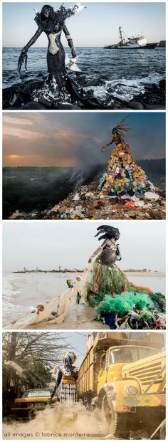 Fabrice Monteiro's garbage garments call attention to the pollution plaguing the African continent.