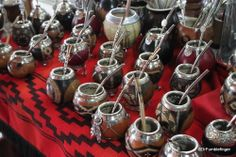 Beautiful collection of mate cups at the Puerto de Frutos market, El Tigre Argentina. Mate is the national drink of Argentina, a type of tea | TravelGumbo