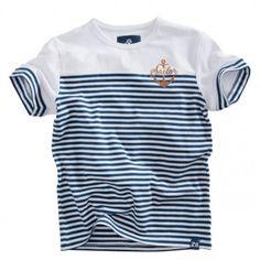 Z8 baby - T-shirt Tim wit-blauw