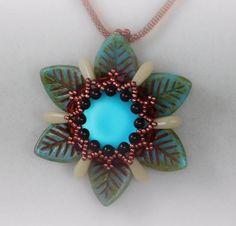 Flower Beading Tutorial, Jewelry Pendant, Pattern, Instructions, Beadweaving…