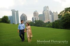 Engagement Photography of Allison and Josh in Piedmont Park of Atlanta,GA - Moreland Photoraphy