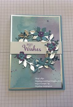 "Cheryl Algie ""Independent Stampin' Up! ® Demonstrator"" : Arrange A Wreath Simple Christmas Cards, Xmas Cards, Card Making Inspiration, Making Ideas, Homemade Cards, Homemade Wedding Cards, Scrapbook Cards, Scrapbooking, Karten Diy"
