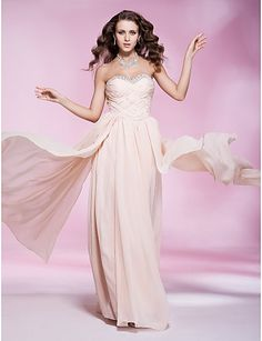 Sweetheart Beaded Chiffon A Line Pink Prom Dress only $199.99 charmbride.com