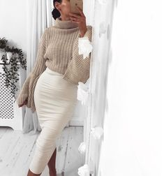 Tan on white for winter