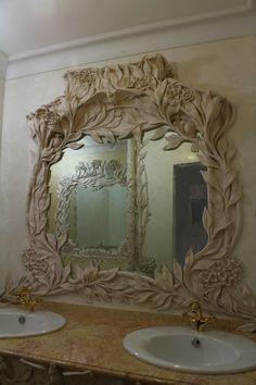 Лепной декор для ванной комнаты. Частный заказчик.