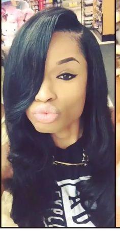 great hair duckface gotta go tho Love Hair, Great Hair, Gorgeous Hair, Beautiful, Dope Hairstyles, Weave Hairstyles, Hairstyle Pics, Black Hairstyles, Straight Hairstyles